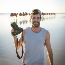 photographer on cable beach