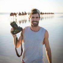 photographer on cable beach