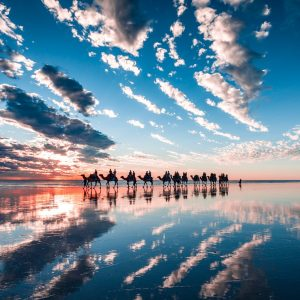 cable beach reflections