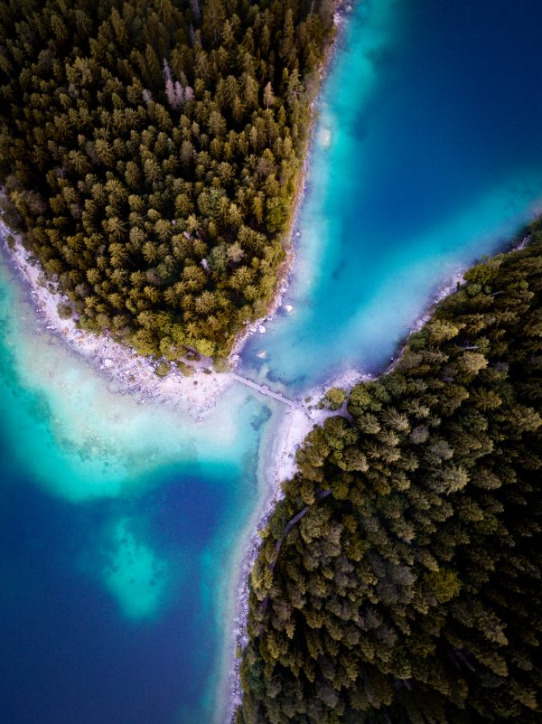 Eibsee from above