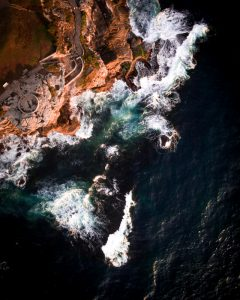 bondi beach aerial photography