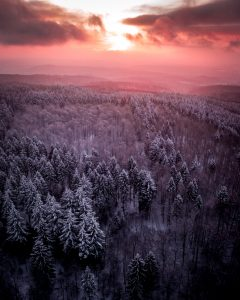 Heidelberg winter sunrise