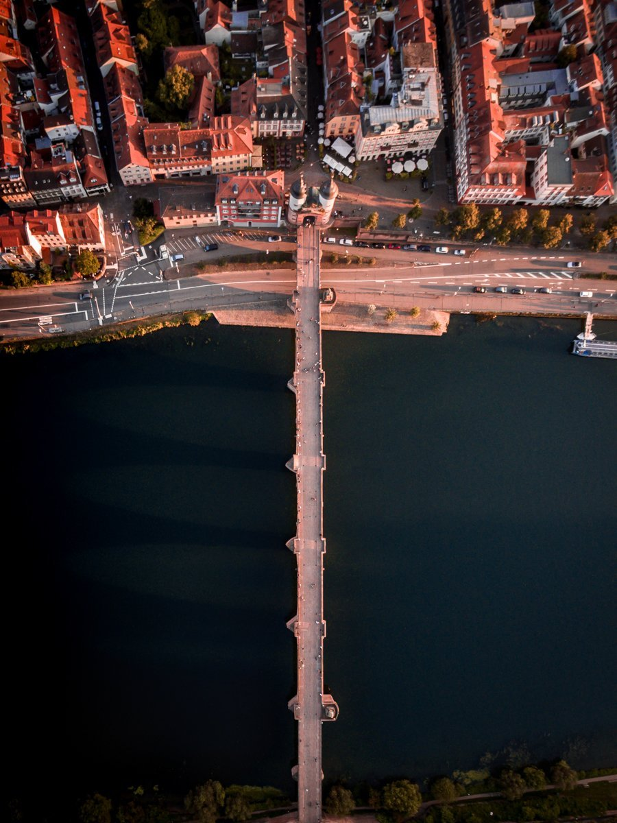 Heidelberg old bridge from above