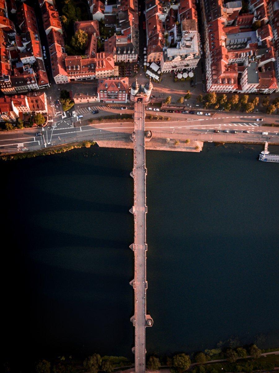 Heidelberg old bridge from above