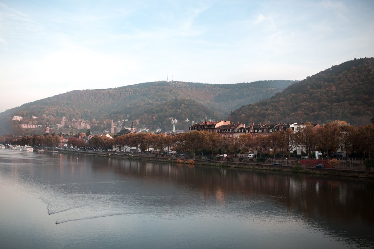 Heidelberg city view