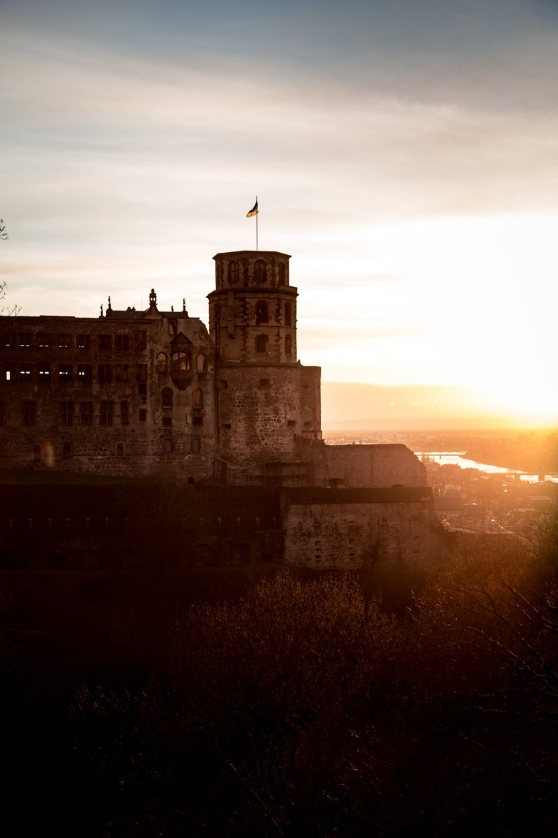 Heidelberg castle sunset