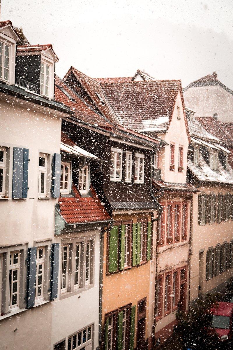 Heidelberg snow