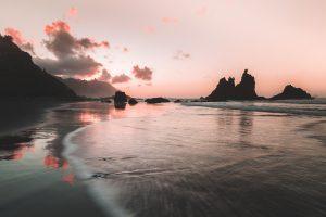 benijo beach sunset tenerife