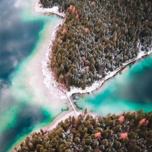 eibsee winter drone photography