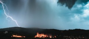 heidelberg castle lightning