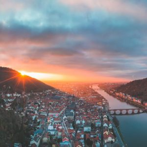 heidelberg sunset panorama