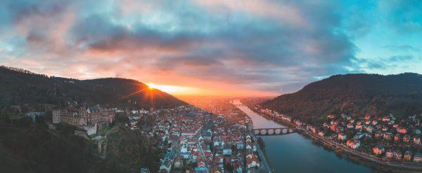 heidelberg sunset panorama