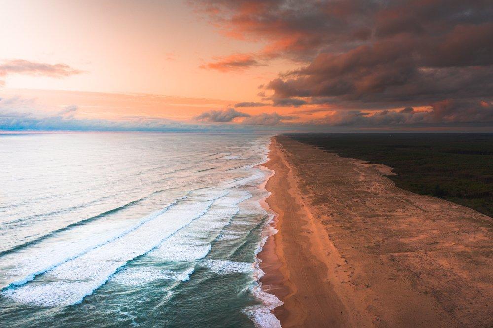 french atlantic coast seignosse