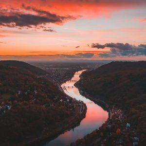 Neckar sunset