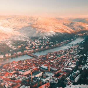 heidelberg winter sunrise