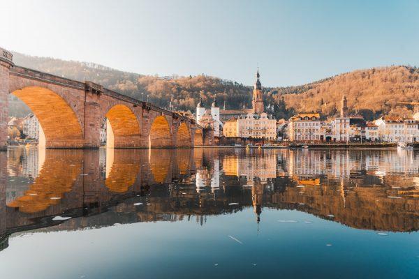 heidelberg old town reflection 2022 calendar